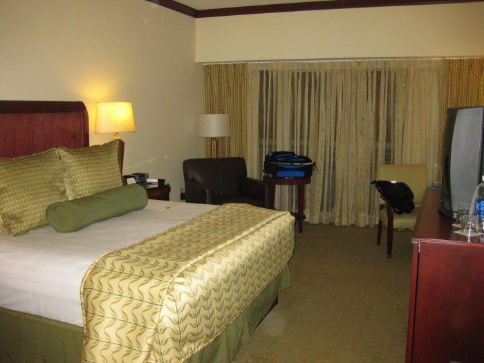 Our room at the Hyatt Regency Orlando Airport Hotel