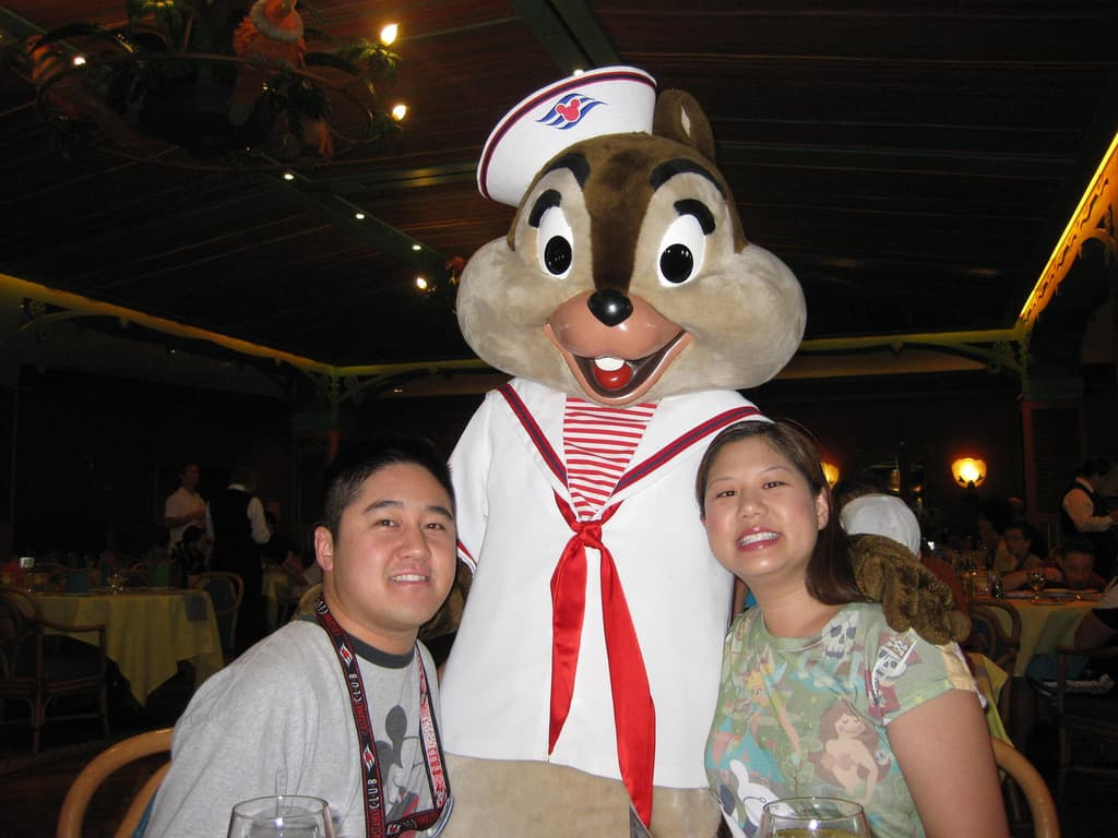 Chip at Character Breakfast on Disney Magic