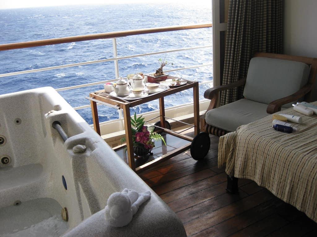 Spa Villa balcony