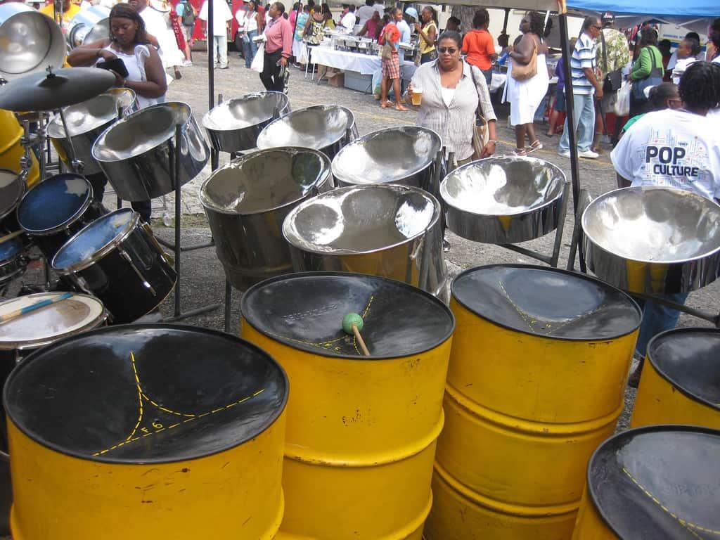 Steel drums at Carnaval in St. Thomas
