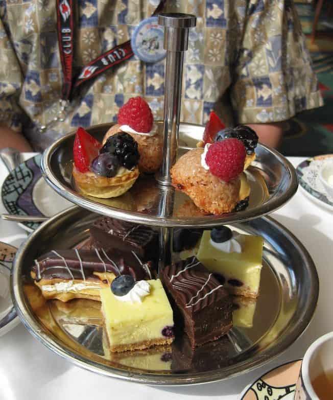 Dessert tier at Palo High Tea