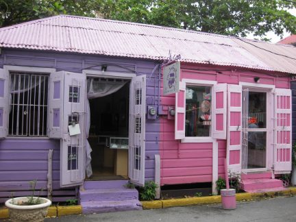 Colorful shops in Road Town, Tortola